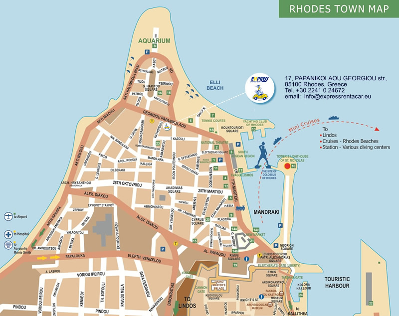 EXPRESS rent a car in Rhodes island